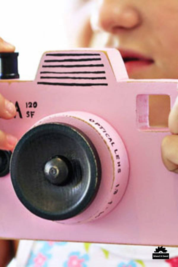 Wooden Toys To Make For Girls - DIY Pink Toy Camera