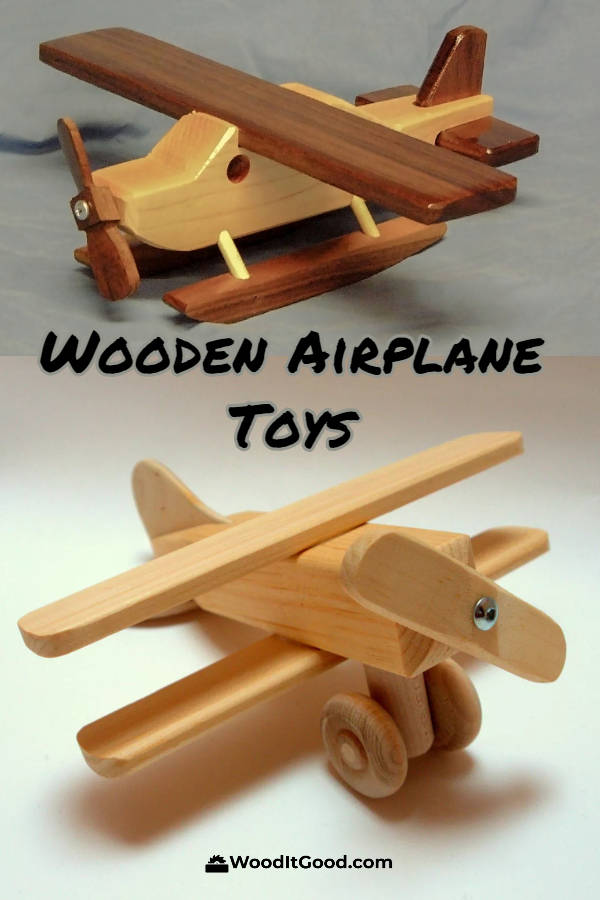 Wooden airplane toys for kids and adults.