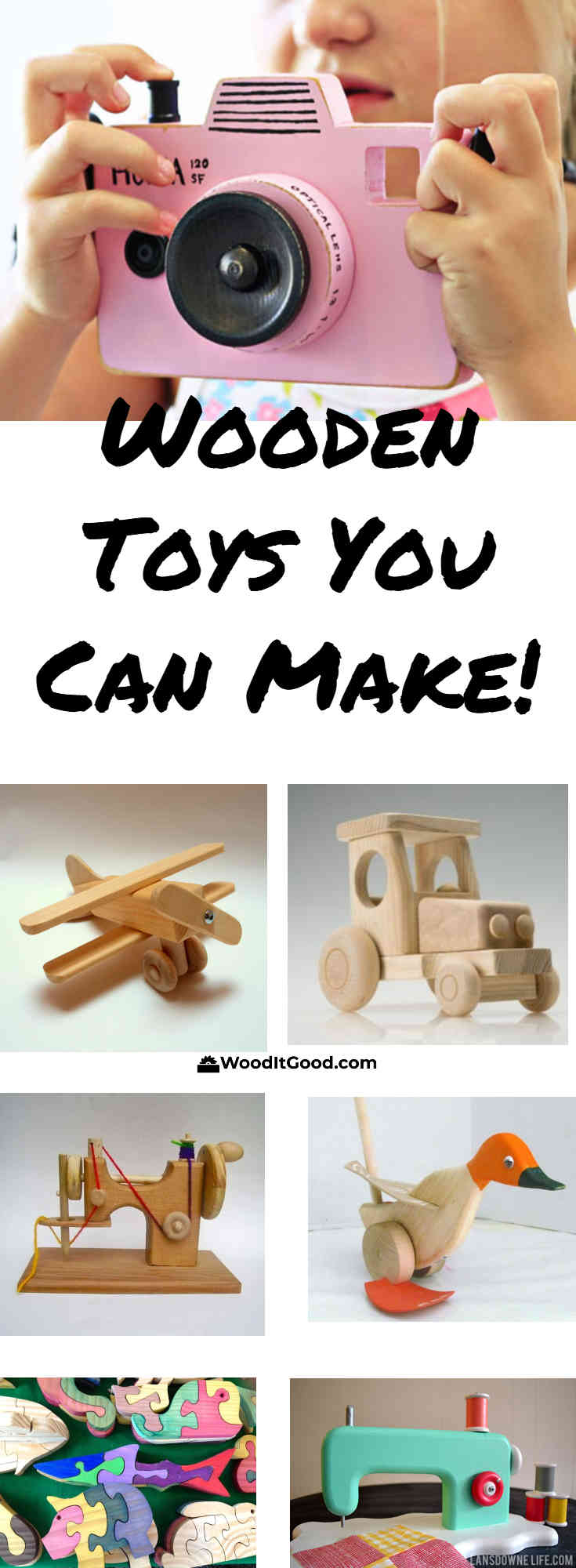 Wooden toys to make collage