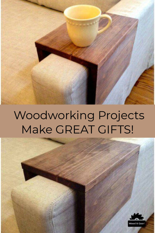 DIY Over-The-Arm Sofa Table - Small Woodworking Gifts For Beginning Woodworkers To Make.