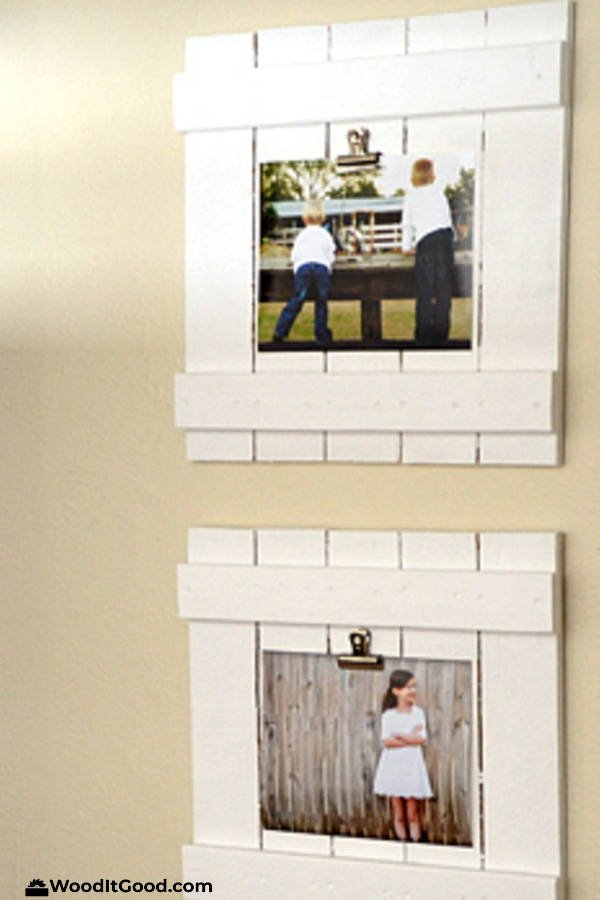 DIY Wood Picket Fence Picture Frame - Small Woodworking Gifts For Beginning Woodworkers To Make.