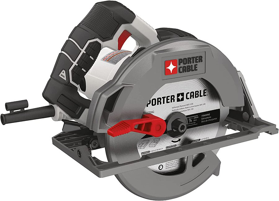 The PORTER-CABLE saw is another excellent example of a budget circular saw.