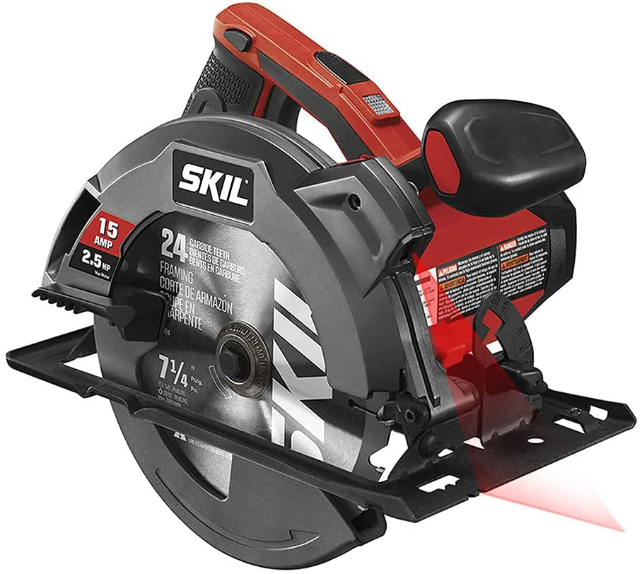 This is an inexpensive circular saw with an adjustable laser.
