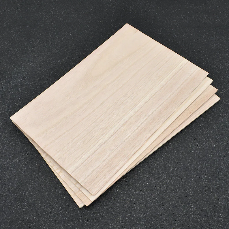 Balsa wood is a lightweight and easy type of wood to work with for woodworkers.