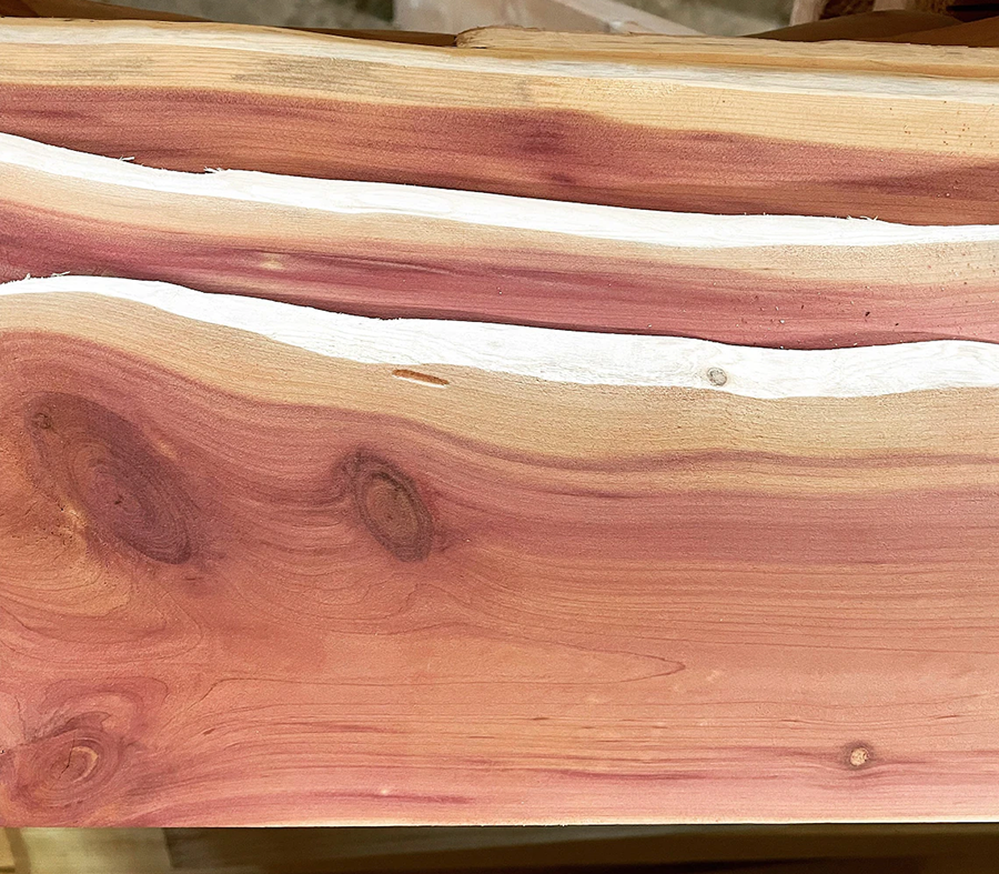 This is lovely live edge red cedar boards.