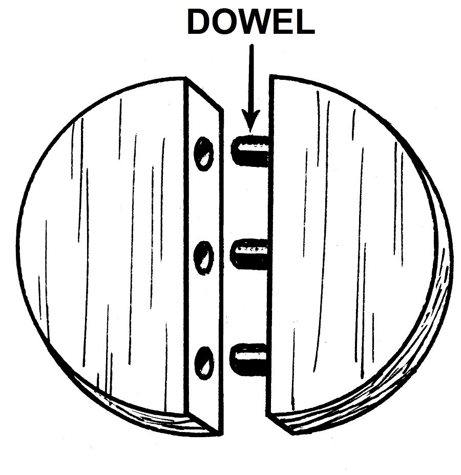 This is an edge-to-edge dowel joint.  This is one of the types of wood joints that connects two pieces of wood together by their sides.