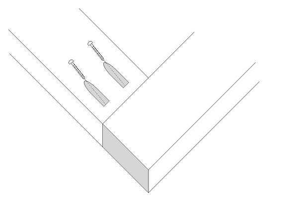 An illustrated diagram of a pocket joint.