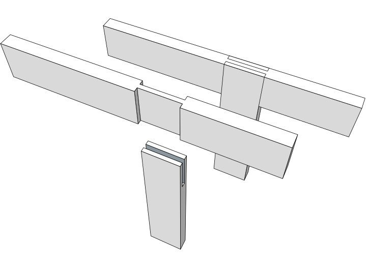 This is a t-bridle joint, one of many types of wood joints.