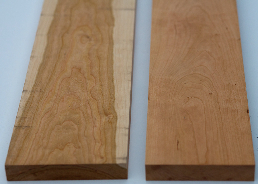 For as pretty as cherry wood can be, it isn't as expensive as the more exotic woods and is readily available.
