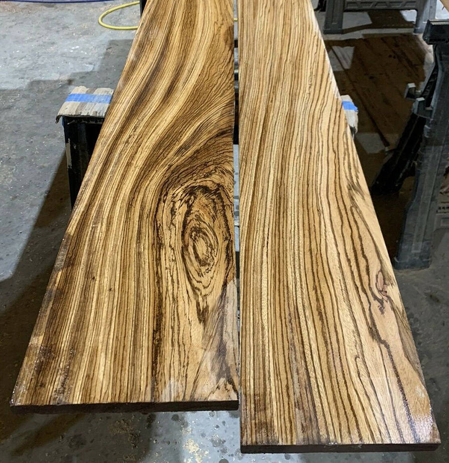 As you can see from this picture, zebrawood is striped just like a zebra!