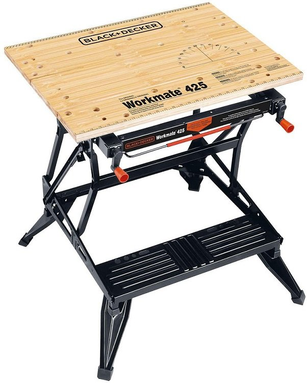 This is an image of a portable workbench.  This is perfect for small workshops where you might need to set it up and then put it away.