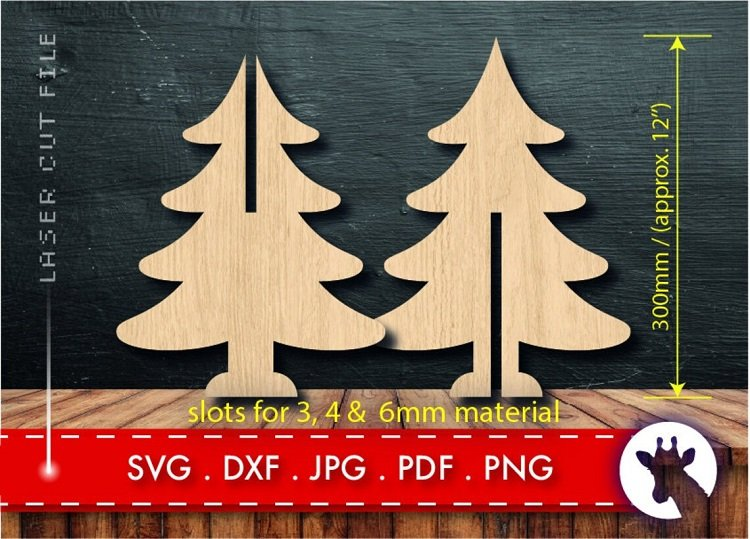 Simple wooden Christmas tree yard decorations.