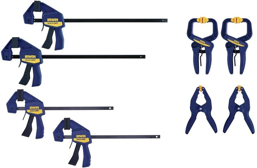 Some simple clamps are all you need to get going, and those are what you can see here.