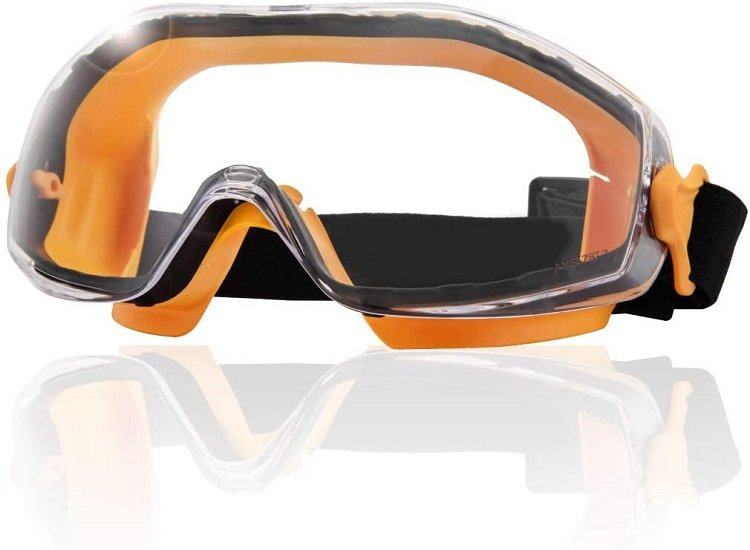 These are safety goggles.  Keep your eyes safe from wood chips, dust and other things that can fly around in a woodshop.