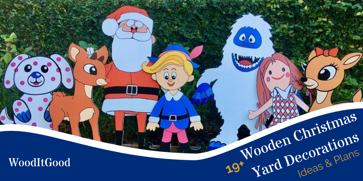19 Wooden Christmas Yard Decorations [Ideas + Plans]